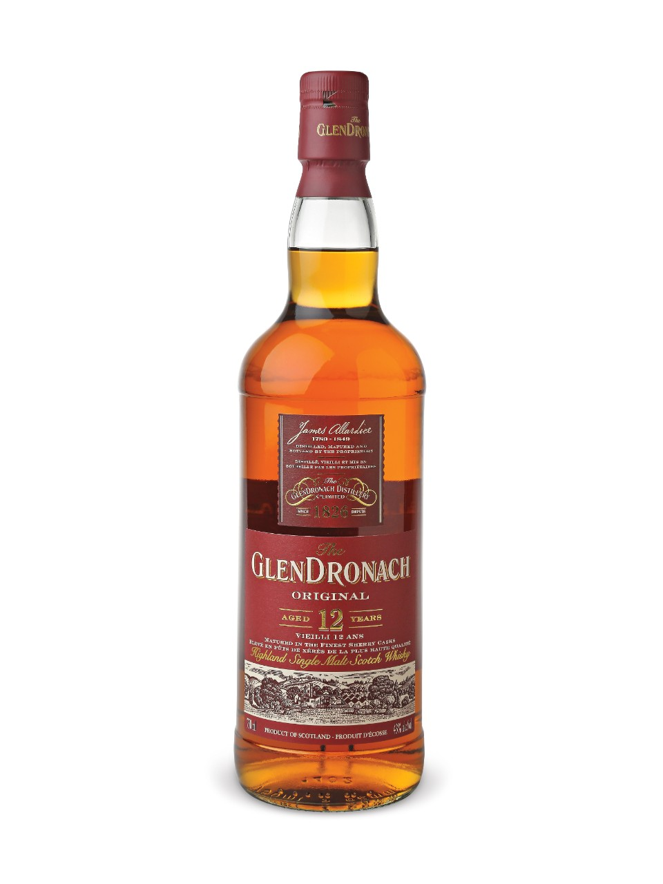 Glendronach 12 Years Old Single Highland Malt Scotch Whisky