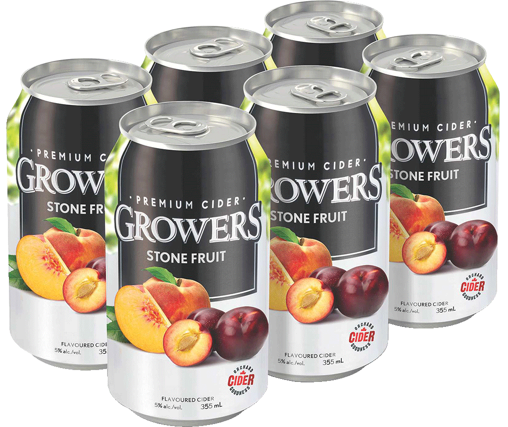 Growers  >> Growers Stone Fruit Can 6x 355ml